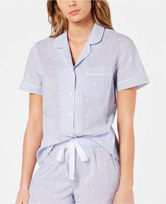 f2408dae53bc Charter Club Notch Collar Woven Cotton Pajama Top, 8151634