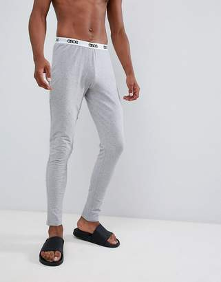 Asos DESIGN megging in gray marl with branded waistband