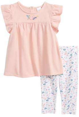 Nordstrom Embroidered Tunic & Leggings Set (Baby Girls)