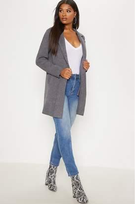 PrettyLittleThing Womens Knitted Coatigan - Grey