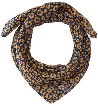 Chan Luu Two-Tone Leopard Print Neckerchief Scarves