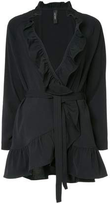 Marc Cain frill-trim belted jacket