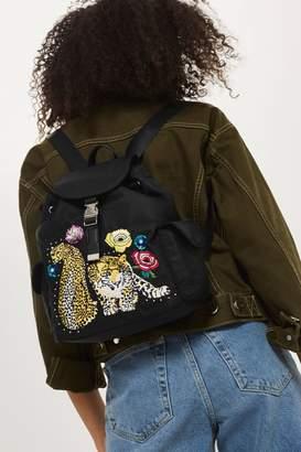 Topshop Leopard Mini Nylon Backpack