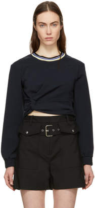 3.1 Phillip Lim Navy Twisted Sweatshirt