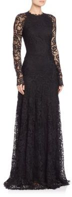 Ralph Lauren Collection Lorriane Long-Sleeve Lace Gown $6,990 thestylecure.com