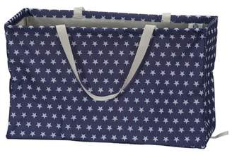Household Essentials Krush Rectangle Utility Tote Bag, White Stars on Blue