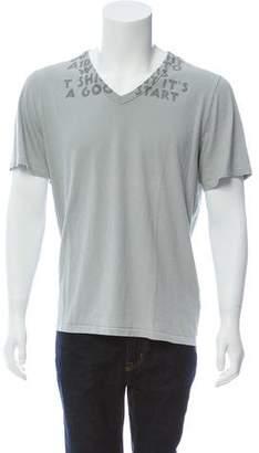 Maison Margiela AIDS Print V-Neck T-Shirt