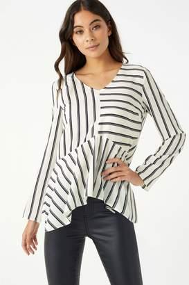Next Lipsy Stripe High Low Long Sleeve Blouse - 4