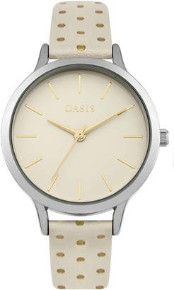 Oasis PU POLKA DOT STRAP WATCH