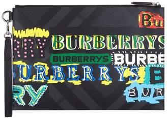 Burberry Graffiti Logo Pouch