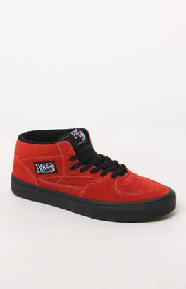 Vans Half Cab Black Sole Red Shoes