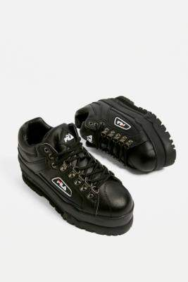 06322df4f7f0c Fila Trailblazer Black Wedge Trainers
