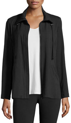 Eileen Fisher High-Collar Stretch Jersey Jacket, Plus Size $168 thestylecure.com