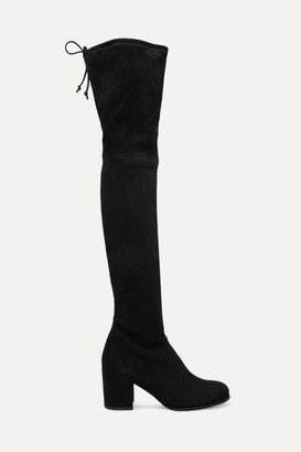 5daac36b9da Stuart Weitzman Tieland Suede Over-the-knee Boots - Black
