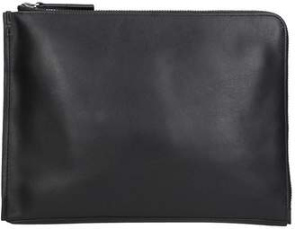 Calvin Klein Black Leather Prime Fold Document
