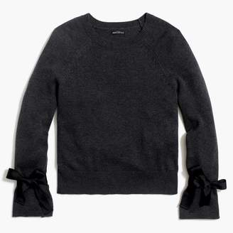 J.Crew Factory Tie bell-sleeve pullover sweater