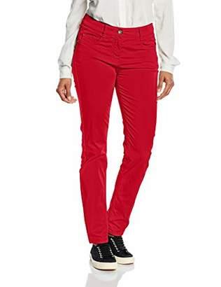 Atelier GARDEUR Women's ZURI Slim Trousers, Red