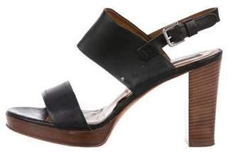 Alberto Fermani Leather Slingback Sandals