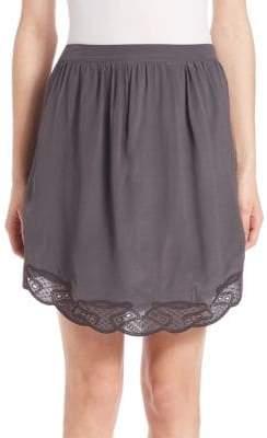SET Embroidered Hem Skirt