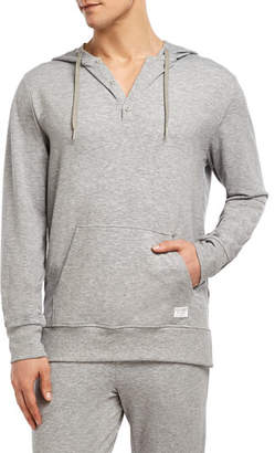 2xist Men's Hooded Henley Sweatshirt