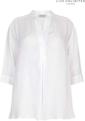 Next Womens Live Unlimited Chambray White Blouse