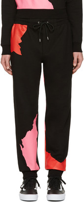 McQ Alexander Mcqueen Black Abstract Icon Dart Lounge Pants $315 thestylecure.com