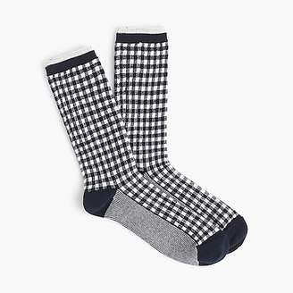 J.Crew Trouser socks in gingham and stripes