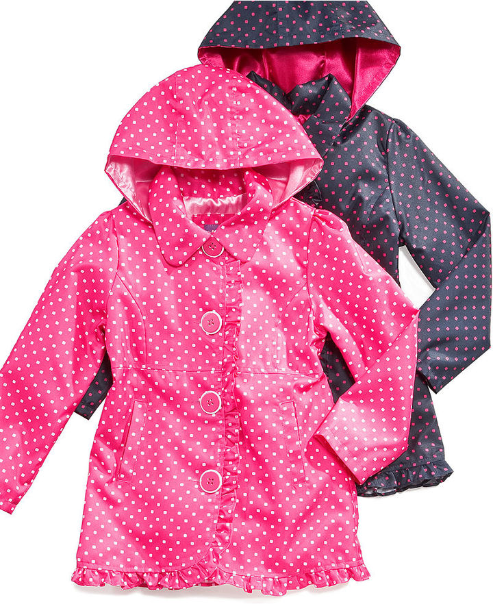 Pink Platinum Kids Jacket, Girls or Little Girls Sarah's Printed Trench Coat