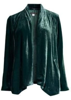 Eileen Fisher Velvet Angle-Front Jacket