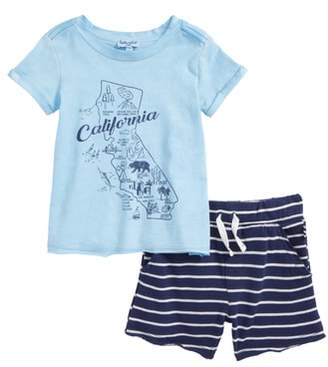 Splendid California Map T-Shirt & Shorts Set