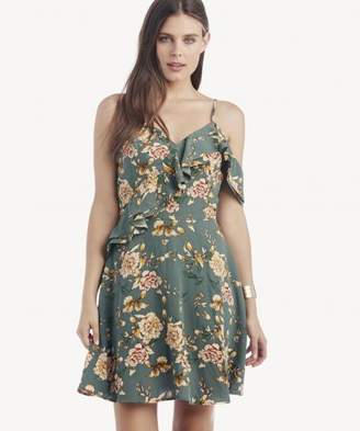 Sole Society One Shoulder Ruffle Fit and Flare Dress
