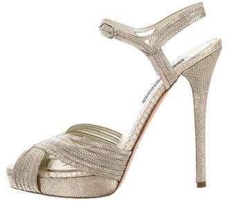 Ralph Lauren Embossed Platform Sandals