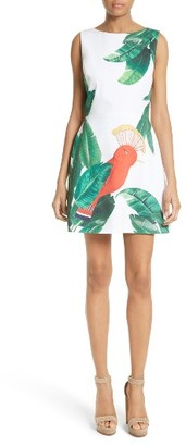Women's Alice + Olivia Malin Stretch Cotton A-Line Dress $275 thestylecure.com