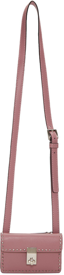 Valentino Pink Mini Stud Stitching Bag
