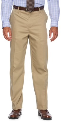 Croft & Barrow Men's Relaxed-Fit No-Iron Flat-Front Casual Pants