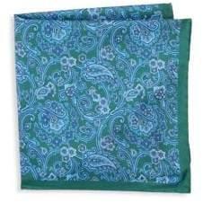 Saks Fifth Avenue Floral Silk Pocket Square