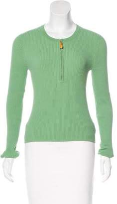 Michael Kors Long Sleeve Rib Knit Top