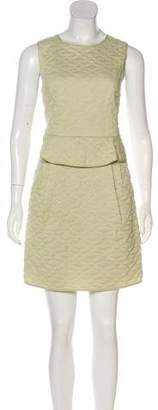 Theyskens' Theory Quilted Peplum Dress w/ Tags