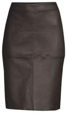 Max Mara Salima Leather Pencil Skirt