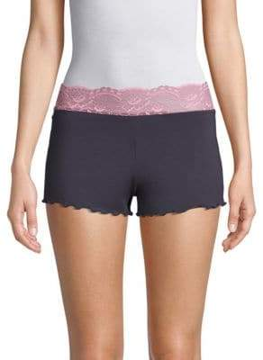 Samantha Chang Embroidered Lace Shortie