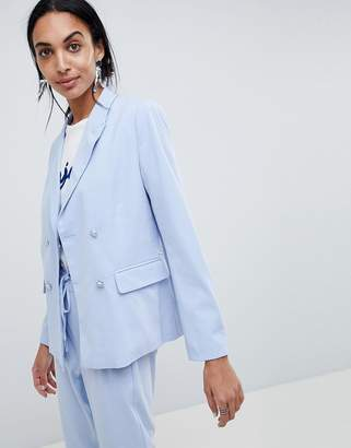 B.young Double Breasted Suit Blazer