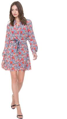 Juicy Couture Larchmont Blooms Silk Shirtdress