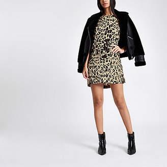 River Island Brown leopard print swing dress