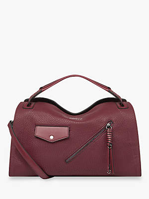 At John Lewis And Partners Fiorelli Carta Bowler Bag Berry