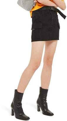 Topshop Clip Belt Skirt
