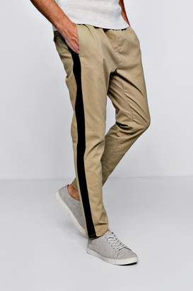 boohoo Slim Tapered Jogger With Side Stripe