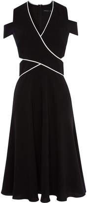 Karen Millen Cold Shoulder Midi Dress