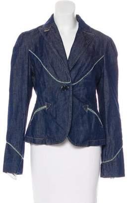 Marc Jacobs Denim Long Sleeve Blazer