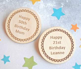 Sweet Pea Design Personalised Birthday Badge