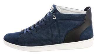 Louis Vuitton Suede High-Top Sneakers